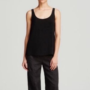 Eileen Fisher 100% Silk Scoop Neck Tank Top